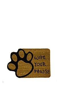 COIR WIPE YOUR PAWS 40X60CM DOOR MAT