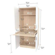 Inval Laricina-White/ Beech Computer Work Center | Overstock.com Shopping - The Best Deals on Desks