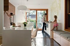 From houzz... Toronto home with lots of sleek, modern storage to combat clutter