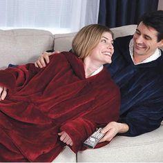 Winter Hooded Coat Warm Slant Hooded Robe Bathrobe Sweatshirt Fleece Pullover Blanket for Men Women Warming Tools Throw Blanket. Category: Home & Garden. Subcategory: Home Textile. Fleece Pullover, Hooded Winter Coat, Hooded Coats, Wearable Blanket, Hooded Blanket, Blue Blanket, Outdoor Wear, Cozy Blankets, Hoodies