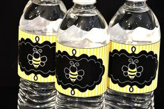 Bee water bottle labels