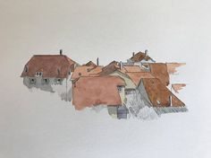 Items similar to Original watercolour sketch of Vinzel, Switzerland on Etsy Watercolor Sketch, Switzerland, Sketches, The Originals, Etsy, Vintage, Art, Drawings, Art Background