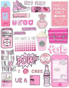 Thinking of making these stickers Printable Planner, Planner Stickers, Printables, Tumblr Png, Whatsapp Wallpaper, Tumblr Stickers, Ideias Diy, Just Girly Things, Pink Things