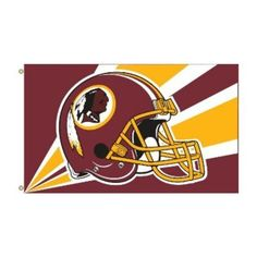 Flagpole To Go NFL House Flag - 60 x 36 in. - FLREDSKINS