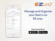 Manage all your fleet details in an organized and accessible way. Plan your dispatch, permanent driver, and availability with the EZLinQ app. Ipod Touch, Organization, App, How To Plan, Learning, Getting Organized, Organisation, Studying, Tejidos