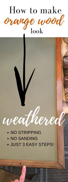 How to Make Orange Wood look Weathered - Pine and Prospect Home Pine Trim, Oak Trim, Pine Furniture, Furniture Makeover, Painting Furniture, Weathered Furniture, Rooms Furniture, Chair Makeover, Furniture Refinishing