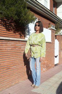 casaca tipo kimono con jacquard de la colección instinto by isabella