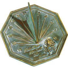 Rome 2320 Rose Sundial, Solid Brass With Verdigris Highlights, 8.5-Inch Diameter, 2015 Amazon Top Rated Sundials #Lawn&Patio