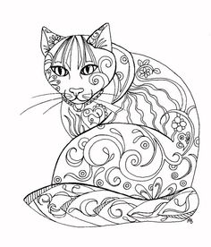 ADULT COLORING PAGE digital download zentangle by OriginalSandMore