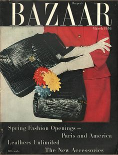 Harper's Bazaar, photo by Louise Dahl-Wolfe, March Suzy Parker, Who Is The First, Diana Vreeland, Vintage Fashion Photography, Dahl, Harpers Bazaar, American Women, Cover Photos, Vintage Prints