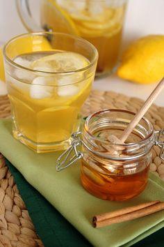 Ice-Cold Green Tea With Lemon And Cinnamon   