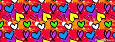 Hearts, Smears, Splats Facebook Cover