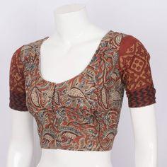 Rema Kumar Handcrafted Kalamkari Cotton Blouse with Batik Printing 10007812 - AVISHYA.COM