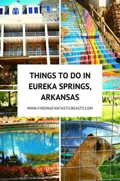 Eureka Springs is a quirky town in northwest Arkansas with lots to do for everyone in the family! Weekend Trips, Weekend Getaways, Day Trips, Arkansas Vacations, Family Vacations, Eureka Springs Arkansas, Stuff To Do, Things To Do, Ares