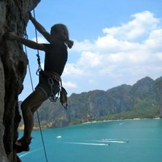 Real Rocks has been teaching climbers around the world for over 14 years. Railay beach climbing tours, Krabi, Thailand.