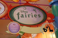 Disney Fairies meet-and-greet area sign / Magic Kingdom - Disney World. Disney World Vacation Planning, Disney World Resorts, Disney Vacations, Walt Disney World, Attraction World, Best Mouse, Disney Fairies, Disney World Tips And Tricks, Free Things