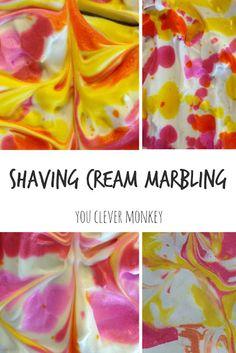 Easy to do art - shaving cream marbling | you clever monkey