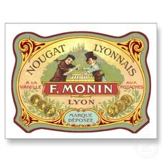 vintage chocolate labels | Vintage French Candy Label Postcard