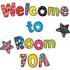 Welcome to Room Bulletin Board Letters