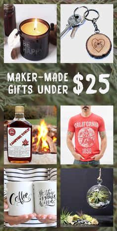 Unique holiday gifts under $25 are on everyone's list this year. These budget friendly gifts - think unique tees, custom keychains, small batch candles, and diy kits -- will impress your loved one without depressing the pocketbook. (Oh, and it's totally ok if grab one, two, or seven for yourself.)