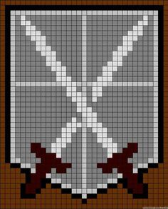Attack on titan cadets embroidery cross stitch pattern
