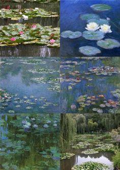 past / present Claude Monet Nympheas