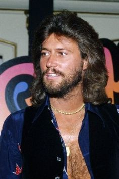 The Bee Gees 24X36 Poster Barry Gibb Open Shirt Bare Chest Classic ...
