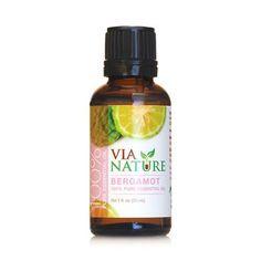 Via Nature Essential Oil - 100 Percent Pure - Bergamot - 1 Fl Oz