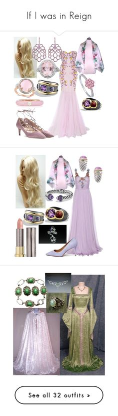 """If I was in Reign"" by kee199905 ❤ liked on Polyvore featuring Marchesa, David Yurman, Allurez, BERRICLE, Adolfo Courrier, Mara Hotung, Valentino, Gucci, Tory Burch and Urban Decay"