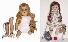 Strange & Creepy Dolls: 12 Weird and Scary Kids Toys Creepy Toys, Weird Toys, Cool Toys, Scary Kids, Scary Tales, Retro Halloween, 3rd Baby, Bear Toy, Toy Store
