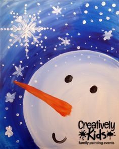 Snowman and Snowflake | Creatively Uncorked | Creatively Kids | http://creativelyuncorked.com