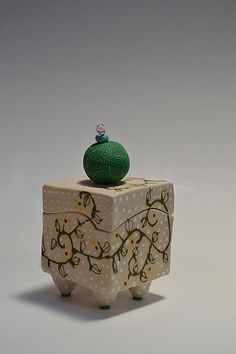 """Botanical Box"" Ceramic Box  Created by Vaughan Nelson"