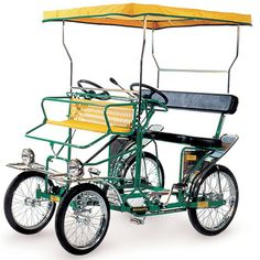The Five Person Pedal Surrey - but why two steering wheels?????