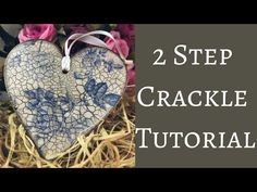 How to use 2 Step Crackle in Decoupage Napkin Decoupage, Decoupage Tutorial, Doll Tutorial, Decoupage Paper, Decoupage Ideas, Diy Arts And Crafts, Fun Crafts, Crafts For Kids, Paper Crafts