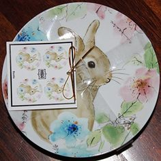 222 Fifth 'Bastia' Easter Bunny pattern set of 4 dessert or appetizer plates. Measures 6.25 inches in diameter. Made of microwave and dishwasher safe fine china porcelain. Beautifully detailed pattern depicting a sweet bunny surrounded by flowers. Designed to coordinate with other... - http://kitchen-dining.bestselleroutlet.net/product-review-for-222-fifth-bastia-bunny-pattern-round-dessert-appetizer-plates-set-of-4/