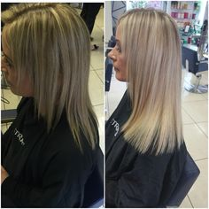 "Great length extensions (12"" 125 bonds applies by Christina at Petras house of colour before and after"