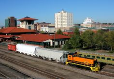 Display train downtown   Description:  Meridian Railroad Museum's Southern Caboose #X397 with two covered hoppers from Mississippi Railcar and Meridian & Bigbee SW1200 #1208 on the city track after the 2010 RailFest.   Photo Date:  11/8/2010  Location:  Meridian, MS   Author:  Mick Nussbaum  Categories:  Roster  Locomotives:  MB 1208(SW1200)