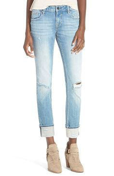 Vigoss 'Chelsea' Stretch Jeans (Light Wash) available at #Nordstrom