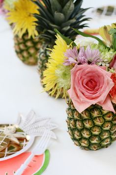 Pineapple Vases as Party Decor!