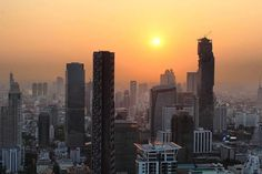 Sunset over Bangkok as seen by #gadv traveller @beenyjam. This sprawling metropolis is Thailands capital housing a population of over 6.35 million. Hotels-live.com via https://www.instagram.com/p/BCupkqzCqhF/ #Flickr