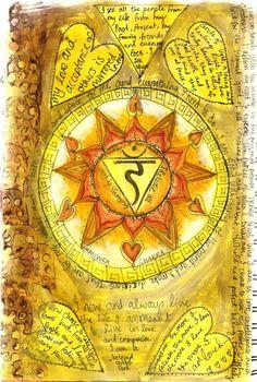 Tammy Salter - Pinner's beautiful artwork-chakra balancing artwork in journal.