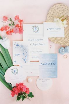 """From the editorial, """"A Tropical, Laid Back Wedding In the Bahamas at Squires Estate"""". The lovely bride says, """"I always dreamt of an island-style wedding since I was a little girl. Growing up with our family home on Windermere Island, I knew that a destination wedding in the Bahamas would be our location.""""   Photography: @alexthorntonphoto #stylemepretty #weddinginvitations #bahamaswedding #beachwedding Creative Wedding Invitations, Classic Wedding Invitations, Destination Wedding Invitations, Wedding Stationery, Wedding Planning, Invites, Laid Back Wedding, Wedding Day, Wedding Bouquets"""