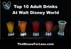 Top 10 Adult Drinks at Walt Disney World. Here is a short list of the best Adult Beverages!