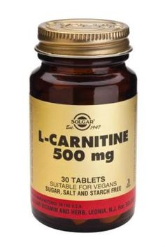 L-Carnitine 500 mg Tablets 30′s  Maxi L-Carnitine 500 mg Tablets is one of Solgar's premium-quality amino acids.*  Suitable for Vegans , Vegetarians and Kosher