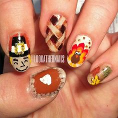 Thanksgiving Nail Art Designs