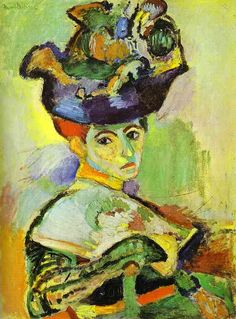 Woman With a Hat by Henri Matisse (1905) Link http://www.liceolocarno.ch/Liceo_di_Locarno/materie/storia_arte/matisse/opere_g1.htm