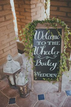 Reception welcome sign