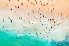 Maroubra Bay Swimmers print, Gray Malin