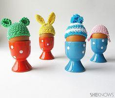 Crochet Easter egg hats