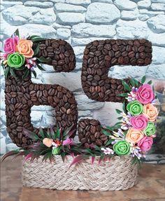Diy Flowers, Paper Flowers, Coffee Beans, Doilies, Diy Home Decor, 3d Printing, Diy And Crafts, Planter Pots, Mousse
